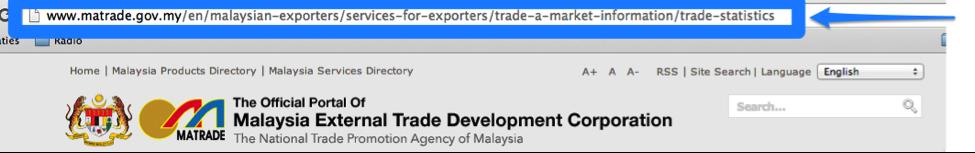 example SEF URL - Matrade Malaysia